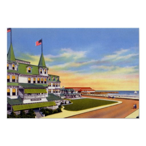 Cape May New Jersey el hotel colonial Poster