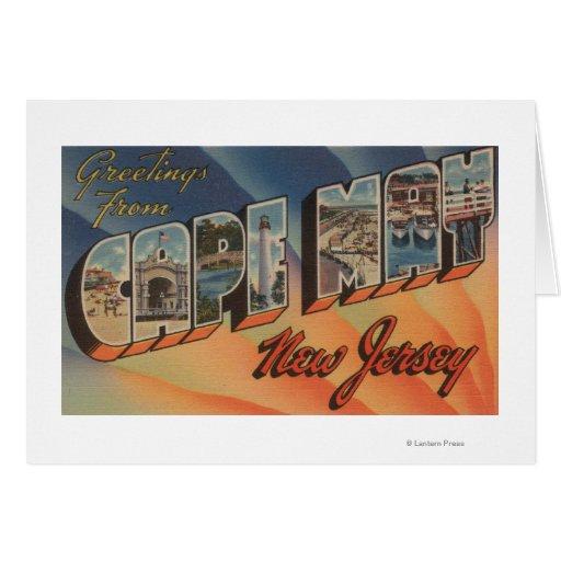 Cape May, New Jersey - escenas grandes de la letra Tarjeta De Felicitación