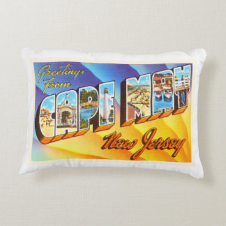 Cape May New Jersey NJ Vintage Travel Postcard- Accent Pillow