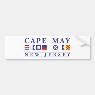 Cape May New Jersey Pegatina Para Auto