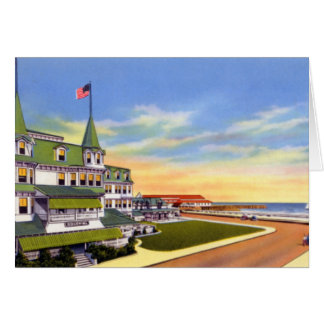 Cape May New Jersey The Colonial Hotel Greeting Card