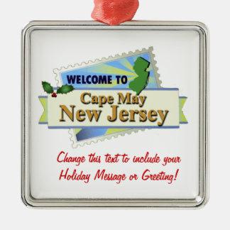 Cape May NJ Metal Ornament