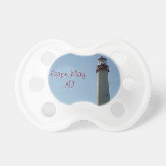 Cape May, pacificador del faro de NJ Chupetes Para Bebés