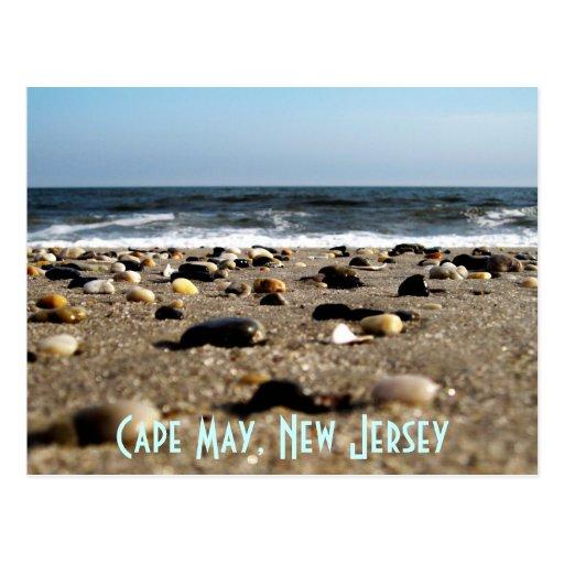 Cape May, postal de la escena de la playa de NJ