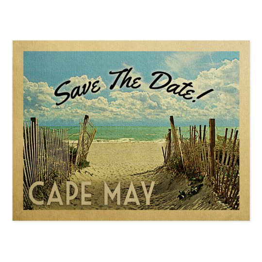 Vintage Beach Postcard Cape May Save T...