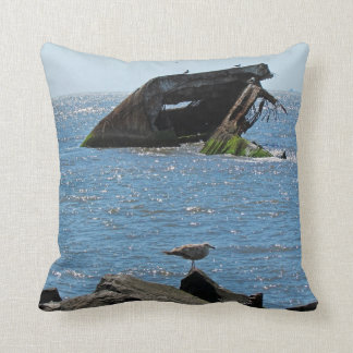 Cape May Shipwreck Throw Pillow