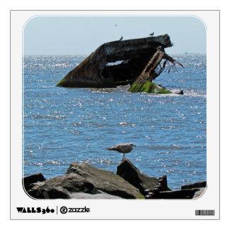Cape May Shipwreck Wall Sticker