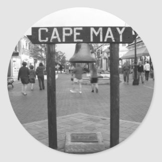 Cape May * Sign Classic Round Sticker
