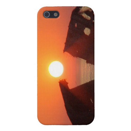 Cape May Sunken Concrete Ship Sunset I Phone Case iPhone 5 Cases