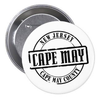 Cape May Title Pinback Buttons
