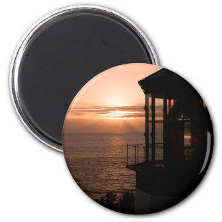Cape Meares Lighthouse  4978 2 Inch Round Magnet