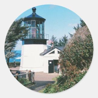 Cape Meares Lighthouse, Oregon Classic Round Sticker