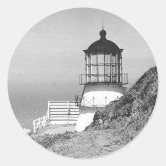 Cape Mendocino Lighthouse Classic Round Sticker