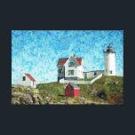 "Cape Neddick Light Canvas Print<br><div class=""desc"">Iconic lighthouse on the coast of Maine</div>"