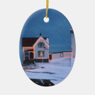 Cape Neddick Light Maine Christmas Ornament