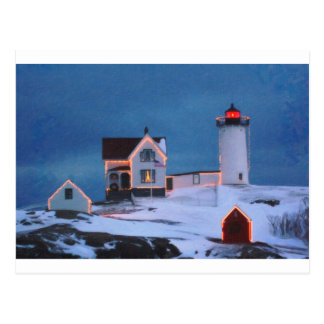 Cape Neddick Light Maine Postcard