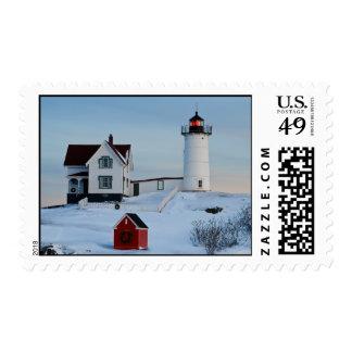 Cape Neddick Light Postage Stamp