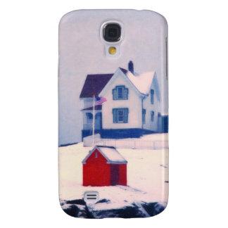Cape Neddick Light snow Galaxy S4 Case