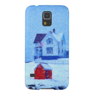 Cape Neddick Light snow pastel Cases For Galaxy S5