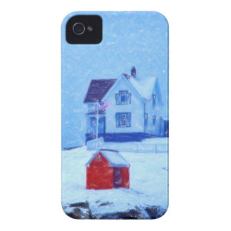 Cape Neddick Light snow  pastel.jpg Case-Mate iPhone 4 Cases