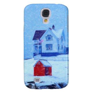 Cape Neddick Light snow pastel Samsung Galaxy S4 Cover
