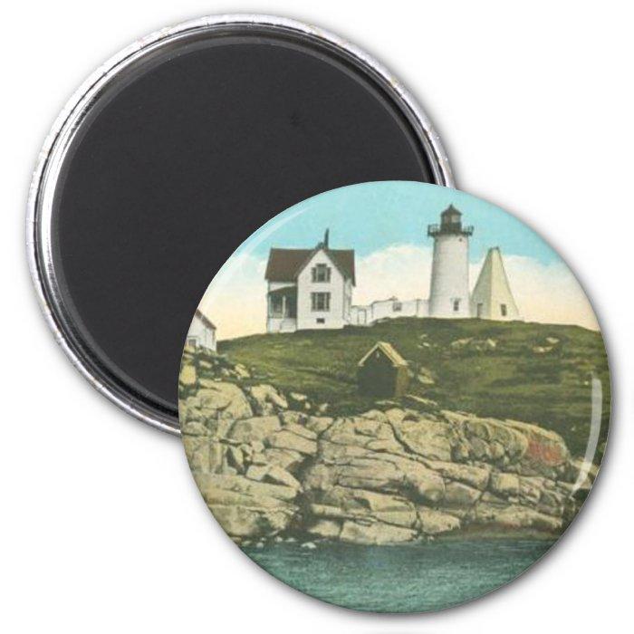 Cape Neddick Lighthouse 2 Inch Round Magnet