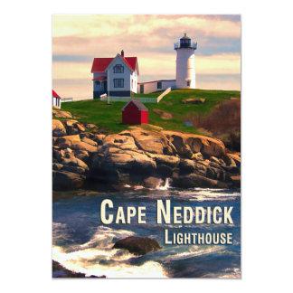 Cape Neddick Lighthouse  at Sunset Card