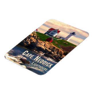 Cape Neddick Lighthouse  at Sunset Rectangular Photo Magnet