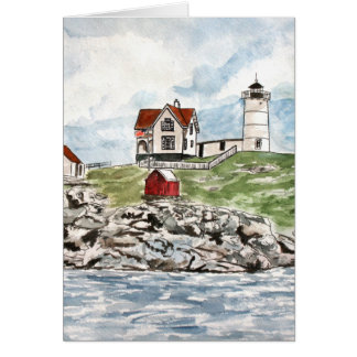 Cape Neddick  lighthouse Maine Card