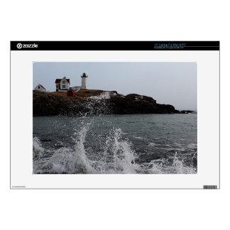 """Cape Neddick / Nubble Light 15"""" Laptop Decal"""