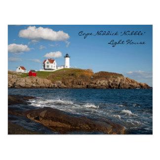 """Cape Neddick """"Nubble"""" Light House Postcard"""