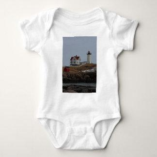 Cape Neddick / Nubble Light in Winter Baby Bodysuit