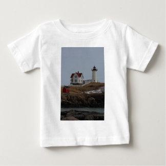 Cape Neddick / Nubble Light in Winter Baby T-Shirt