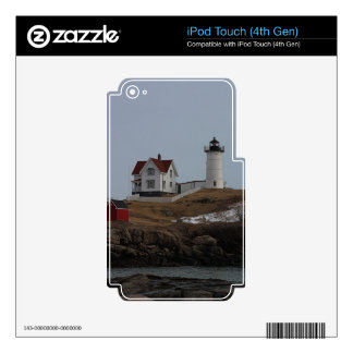 Cape Neddick / Nubble Light in Winter iPod Touch 4G Skins