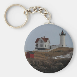 Cape Neddick / Nubble Light in Winter Keychain