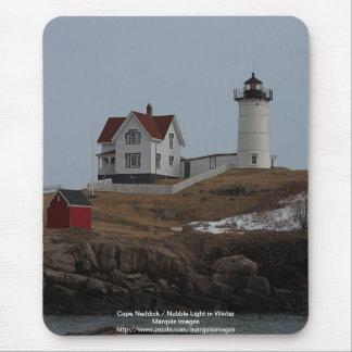 Cape Neddick / Nubble Light in Winter Mouse Pad
