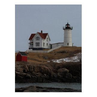 Cape Neddick / Nubble Light in Winter Postcard