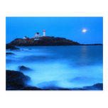Cape Neddick Nubble Lighthouse Full Moon Tide Postcard