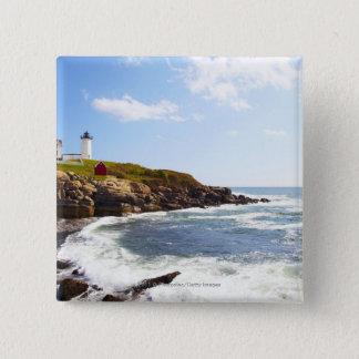 Cape Neddick 'Nubble' Lighthouse in Maine Pinback Button
