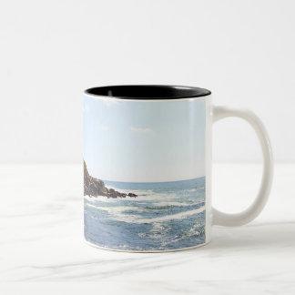 Cape Neddick 'Nubble' Lighthouse in Maine Two-Tone Coffee Mug