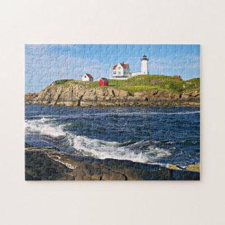 "Cape Neddick ""the Nubble"" Lighthouse, York Maine Jigsaw Puzzle"