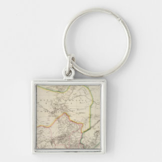 Cape of Good Hope Silver-Colored Square Keychain