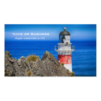 Cape Palliser New Zealand Lighthouse Double-Sided Standard Business Cards (Pack Of 100)