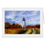 Cape Pogue Lighthouse Greeting Card