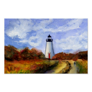 Cape Pogue Lighthouse Poster- Martha's Vineyard Poster