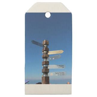 Cape Point South Africa Wooden Gift Tags