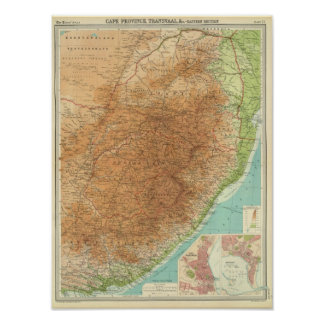 Cape Province, Transvaal, eastern section Poster