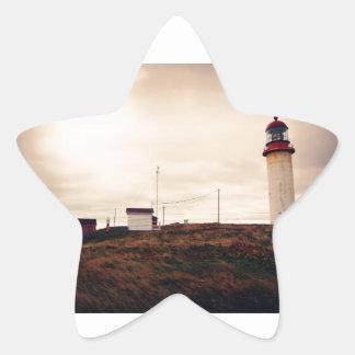 Cape Race Lighthouse Star Sticker