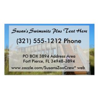 Cape San Blas Boardwalk, Florida beach girl Business Card