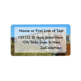 Cape San Blas Boardwalk, Florida beach girl Address Label